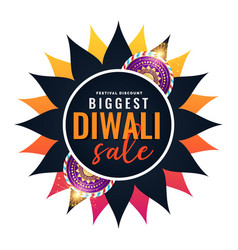 Biggest diwali sale banner template vector