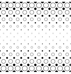 black and white circle pattern - abstract vector image