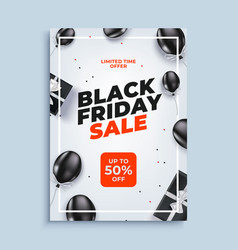 Black friday sale banner background with vector