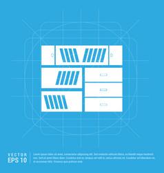 bookcase furniture icon vector image