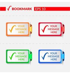 BOOKMARK vector image