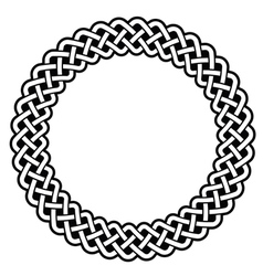 Celtic round frame border pattern vector