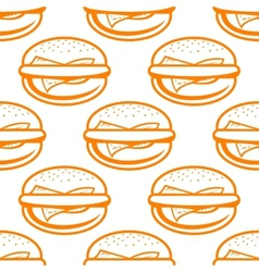 Cheeseburger seamless pattern vector image