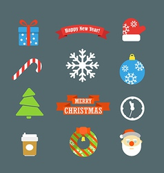 Christmas elements collection vector