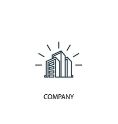 company concept line icon simple element vector image
