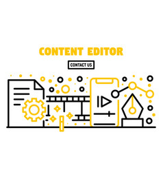 Content editor banner outline style vector