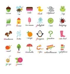 Cute alphabet vector image