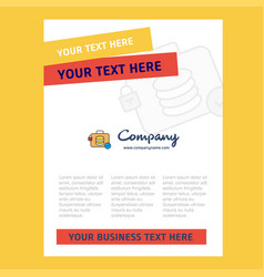 database briefcase title page design for company vector image