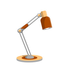 Desktop retro lamp icon in flat style vector