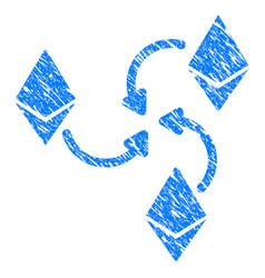 Ethereum mixer swirl grunge icon vector