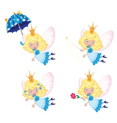 Fairy funny set vector
