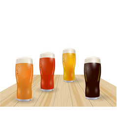 festival of beer different types of beer in vector image