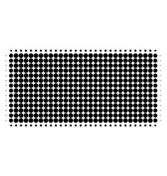 filled rectangle halftone dotted icon vector image