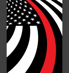 Firefighter support flag background vector