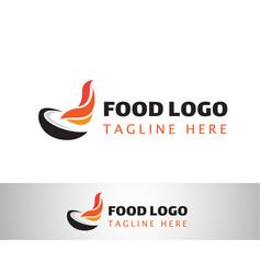 Food logo creative logo restaurant logo hot vector