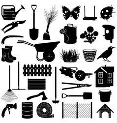 garden pictogram vector image