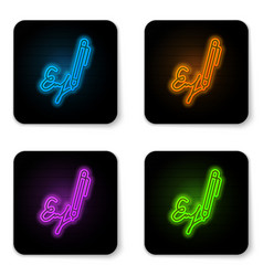 glowing neon signature line icon isolated on vector image