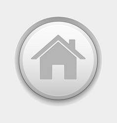home page icon white round 3d button on white vector image