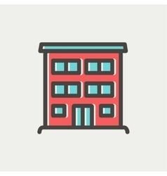 Hospital building thin line icon vector image