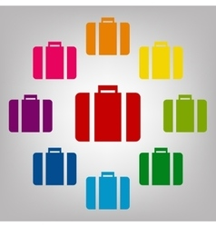 Icons colorfull set vector image