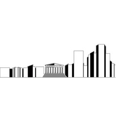 Isolated athens cityscape vector