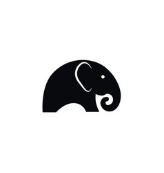 isolated indian elephant icon ivory vector image