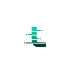 l letter pixel logo icon design vector image