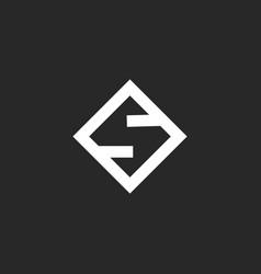 letter s logo monogram creative minimal style vector image