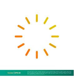Loading sign climate icon logo template design vector