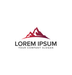 luxury modern mountain logo design concept vector image