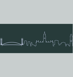 manchester single line skyline vector image