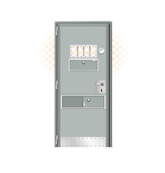 modern prison gray door noticeably better vector image