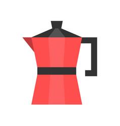 Moka pot coffee related flat style icon vector