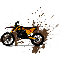 motocross rider ride the motocross vector image
