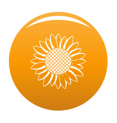 Nice sunflower icon orange vector