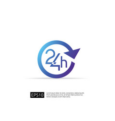 Open 24 hours a day icon sign isolated around vector