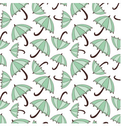 pattern with umbrellas seasonal seamless vector image