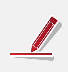 Pencil sign new year reddish vector
