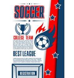Poster for football college league game vector