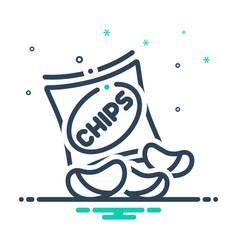 Potato chips vector
