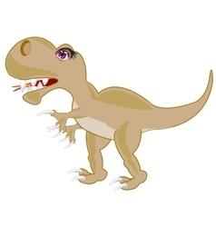 Ravenous prehistorical dinosaur vector
