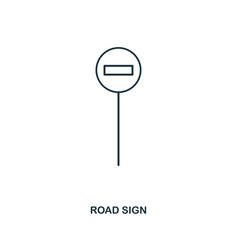 road sign icon outline style icon design ui vector image
