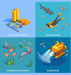Scuba diving design concept vector