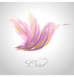 Shiny lavender flying hummingbird vector image