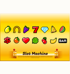 Slot machine symbols vector