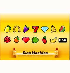slot machine symbols vector image