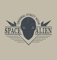 space alien head vector image