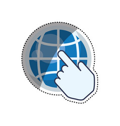 sphere global isolated vector image