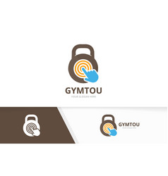 sport and click logo combination gym vector image