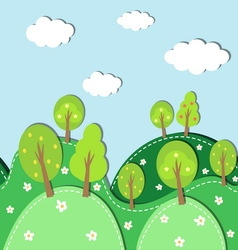 spring forest background vector image